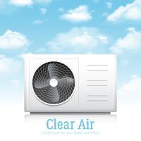 Conditioner voor thuis en op kantoor illustratie vector