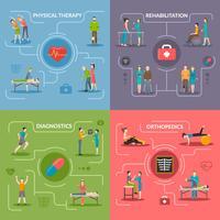 Fysiotherapie revalidatie 2x2 ontwerpconcept