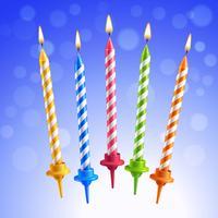 Birthday Kaarsen instellen vector