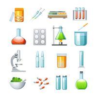 Farmacologie Vlakke pictogrammen collectie