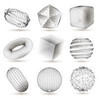 Digitale geometrische vormen instellen vector