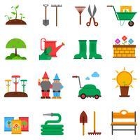 Tuinieren pictogrammen instellen