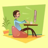 Programmeur werkende illustratie