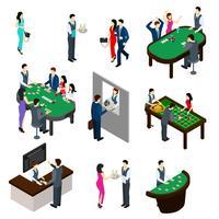 Casino isometrische Set vector