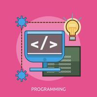 Conceptueel illustratieontwerp programmeren vector