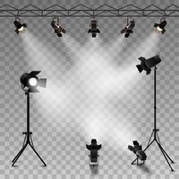 Spotlights transparante achtergrond vector