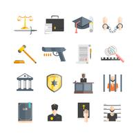 Justitie Icons Set