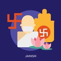 Jainism Conceptuele afbeelding ontwerp vector