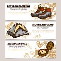Toerisme Camping Wandelen Banners