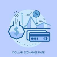 Euro wisselkoers conceptuele afbeelding ontwerp vector