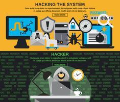Hacker-bannerset vector