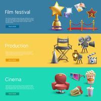 bioscoop banner set vector