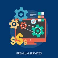 Premium Services Conceptuele illustratie Ontwerp vector