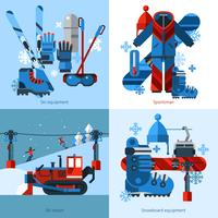 Skiën 2x2 ontwerpconcept