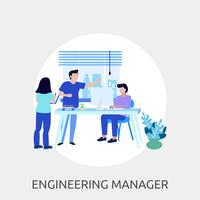 Engineering Manager Conceptuele afbeelding ontwerp vector