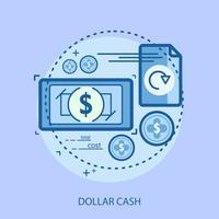Dollar Cash Conceptuele afbeelding ontwerp vector