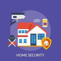 Home Security Conceptuele afbeelding ontwerp vector