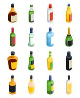 Alcohol isometrische Icon Set