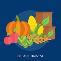 Organische oogst Conceptuele afbeelding ontwerp vector