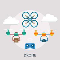 Drone Conceptuele afbeelding ontwerp vector
