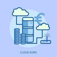 Cloud Bitcoin Conceptuele afbeelding ontwerp vector