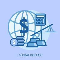 Globaal Euro Conceptueel illustratieontwerp vector