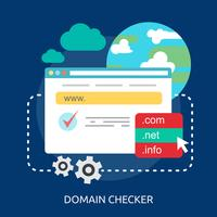 Domain Checker Conceptuele afbeelding ontwerp