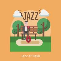Jazz At Park Conceptueel illustratieontwerp vector