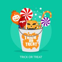 Trick Or Treat Conceptueel illustratieontwerp