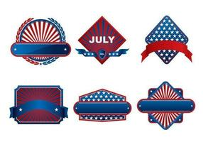 Vierde juli Banner Vector Pack