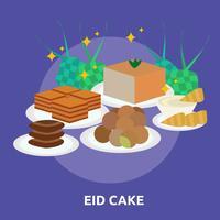 Eid Cake Conceptueel illustratieontwerp vector