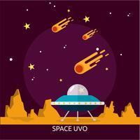 Space Uvo Conceptuele afbeelding ontwerp vector