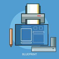 Blauwdruk Conceptuele afbeelding ontwerp