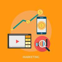 Marketing conceptuele afbeelding ontwerp vector