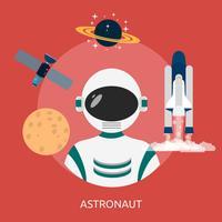 Astronout Conceptueel illustratieontwerp