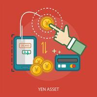 Yen Asset Conceptueel illustratieontwerp vector