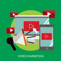 Videomarketing Conceptueel illustratieontwerp vector