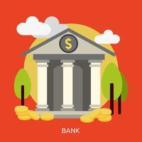 Bank conceptuele afbeelding ontwerp vector