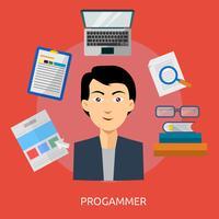 Programmeur Conceptueel illustratieontwerp vector