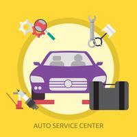 Auto Service Center Conceptuele afbeelding ontwerp vector