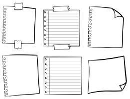 Papiersjablonen in verschillende ontwerpen vector