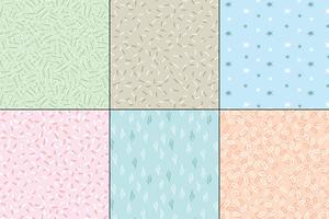 pastel naadloze abstracte patronen vector