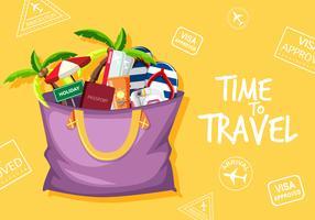 Tijd om te reizen logo vector