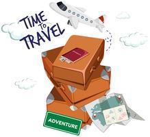 Tijd om te reizen pictogram