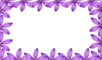 Een paars bloemframe vector