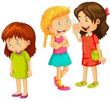 Meisjes die andere vrienden roddelen vector