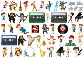 Set van muziekelement vector