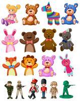 Set van kinderen speelgoed vector