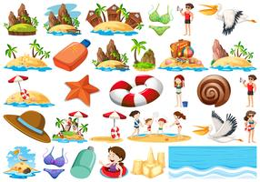 Set van zomer strand collectie