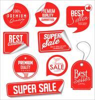 Verkoop banner sjablonen ontwerp en speciale aanbieding tags collectie
